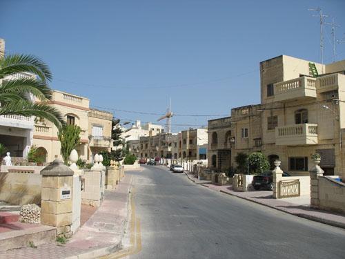 Wohnviertel in Bugibba
