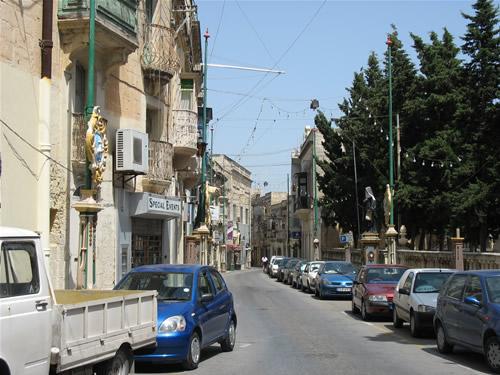 Straßenleben in Rabat.