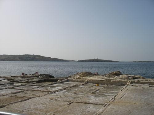 Blick auf St. Pauls Island - hier ist der Apostel Paulus gestrandet
