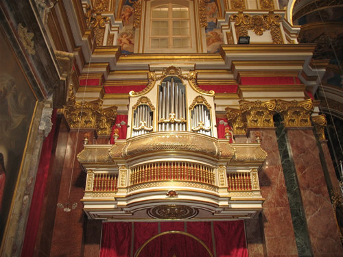 Orgel in der Kathedrale.