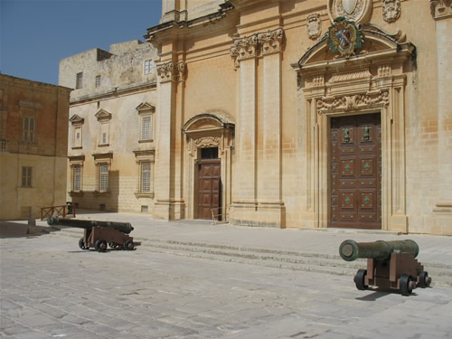 Kanonen in Mdina.