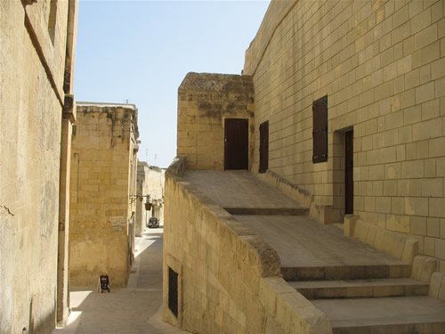 Befestigungen in Mdina.