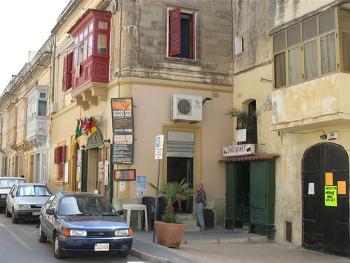 Straßencafe in Rabat.