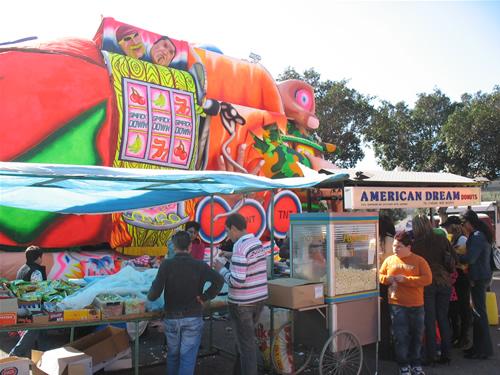 Süßwarenstand beim Fasching in Malta