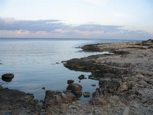 Diese Bucht in Paceville wird von den meisten als Strand bezeichnet - dabei handelt es sich um eine Felsenküste. Vor allem nachts treffen sich hier viele Jugendliche und Sprachschüler.