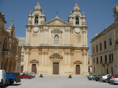 St. Peter & Paul Kathedrale in Mdina, Malta.