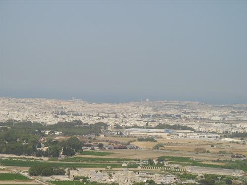 Aussicht auf das Zentrum von Malta: Sliema, St. Julians, Valletta, Msida, etc.