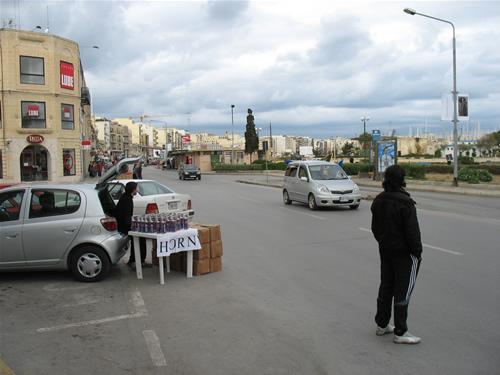 Kleiner Händler in Sliema
