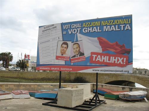 Wahlplaket in Sliema