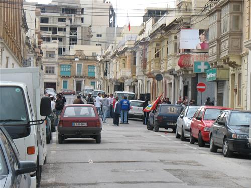 Vor den Wahlen in Sliema