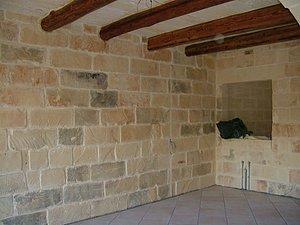 Wohnbereich mit Deckenbalken