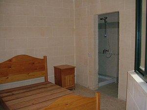 Schlafbereich mit WC/Dusche