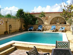 Ferienwohnung mit POOL in Kercem (Gozo)