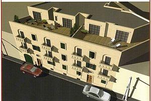 Wohngebäude aus der Luft