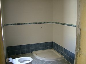 Dusche mit WC